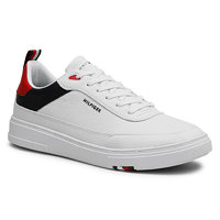Sneakersy TOMMY HILFIGER - Modern Cupsole Leather FM0FM03427 Red White Blue 0GY 4