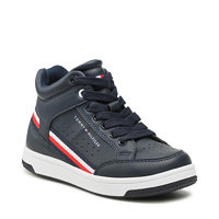 Sneakersy TOMMY HILFIGER - High Top Lace-Up Sneaker T3B4-32051-0621 M Blue 800